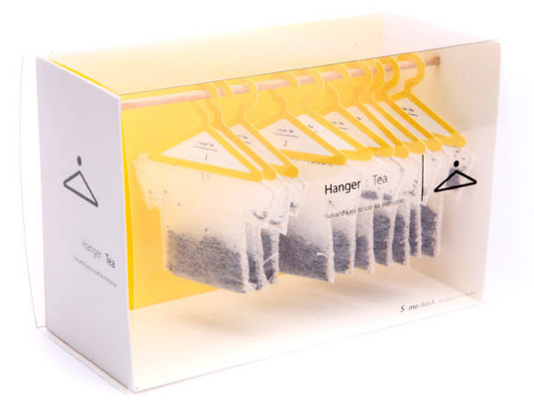 hanger tea 36 Clever (and Quirky) Packaging Designs