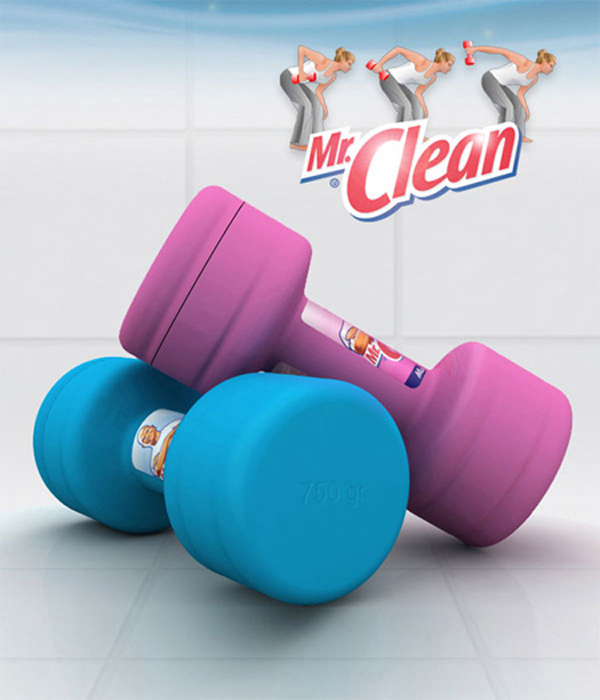 Mr. Clean Dumbbell Packaging