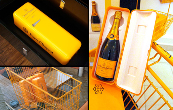 Champagne Mini Fridge Packaging