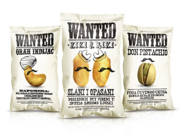 wanted snacks 36 Clever (and Quirky) Packaging Designs