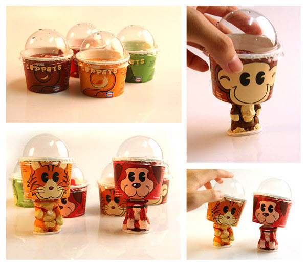ice cream cup bobblers 36 Clever (and Quirky) Packaging Designs