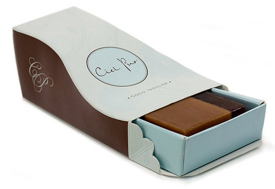 Ciel Pur - soap packaging open view